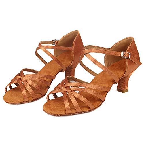 HIPPOSEUS 2 heel Ballroom Dancing WZJ Women's Shoes Latin Model 5cm Brown Shoes CL Dance rwTZfrOq