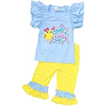 Unique Baby Girls One Cute Chick Easter Outfit