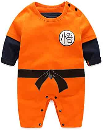 86050923b Dragon Ball Z Cosplay Long Sleeve Baby Boy and Girls Goku Rompers Costume  Jumpsuit Baby Clothes