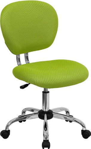 Flash Furniture Mid-Back Apple Green Mesh Swivel Task Chair with Chrome Base by Flash Furniture