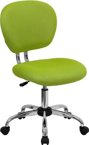 Flash Furniture Mid-Back Apple Green Mesh Swivel Task Chair with Chrome Base