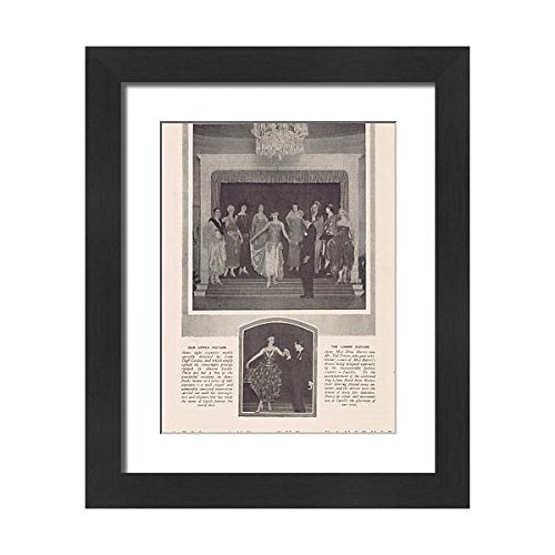 Framed 14397734 cr Dances The Showing Danseuse of 21x17 Fashion Dress and Series of Print SOnqSw4ar