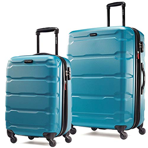 Samsonite Omni PC 20|24inch 2-Piece Spinner Set Caribbean Blue