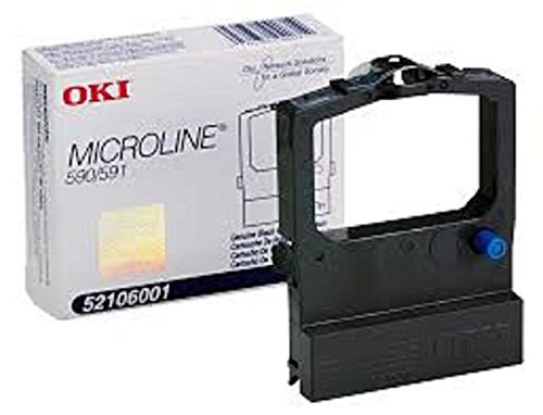 Genuine OEM brand name OKIDATA Black Print RIBBON for MICROLINE 590/591 (12/BOX) 52106001