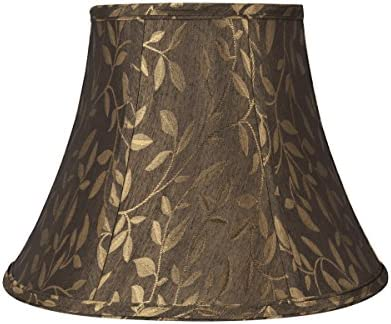 Aspen Creative 30224 Transitional Bell Shaped Lamp Shade, Brown