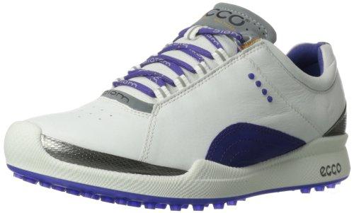 ECCO Women's Biom Hybrid II Golf Shoe,White/Iris,41 EU/10-10.5 M US by ECCO