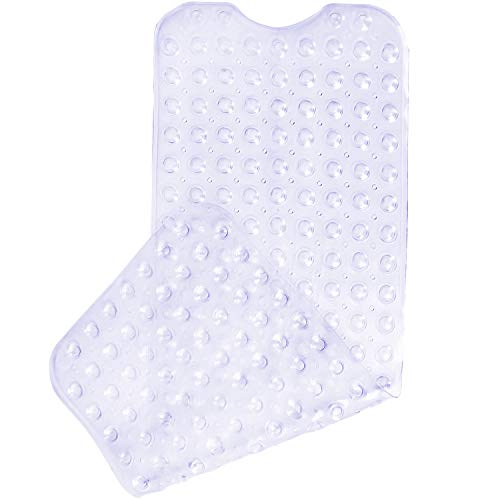Yimobra Original Bath Tub and Shower Mat Extra Long 16 x 40 Inch,Phthalate Free,Latex and Machine Washable Large Materials,Clear (Slip Anti Bath Mats)