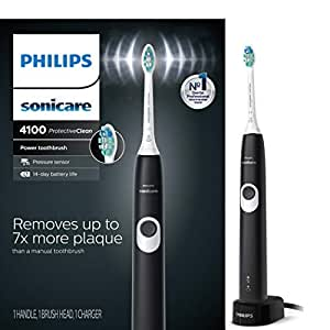 Philips Sonicare HX6810/50 ProtectiveClean 4100 Rechargeable Electric Toothbrush, Black