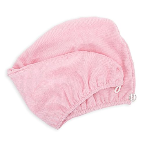 - Diva Darling, Easy to Use & Super Absorbent Microfiber Hair Turban, Pink