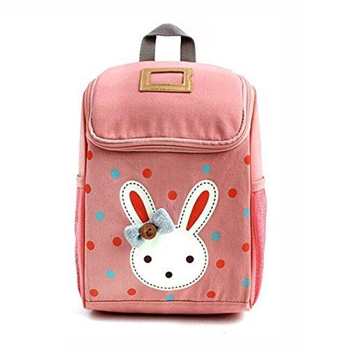 GWELL Babyrucksack Kindergartenrucksack Kindergartentasche Backpack Schultasche Kinder Mädchen rosa
