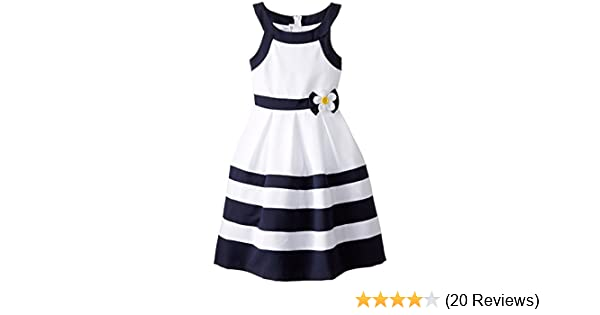 53d33893b11 Amazon.com: Bonnie Jean Girls' Nautical Banded Dress: Clothing