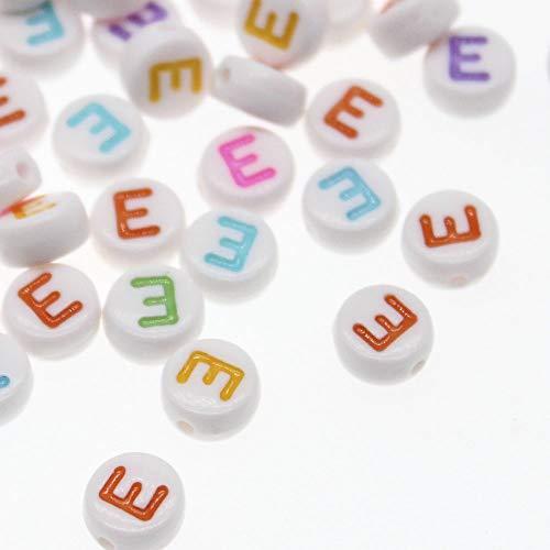 Color: Mixed Alphabet Calvas Wholesale Letter//Alphabet Alloy Antique Silver Charm Beads 264=104 pcs fit Jewelry//Bracelet 6x6mm,Hole 2mm JC01