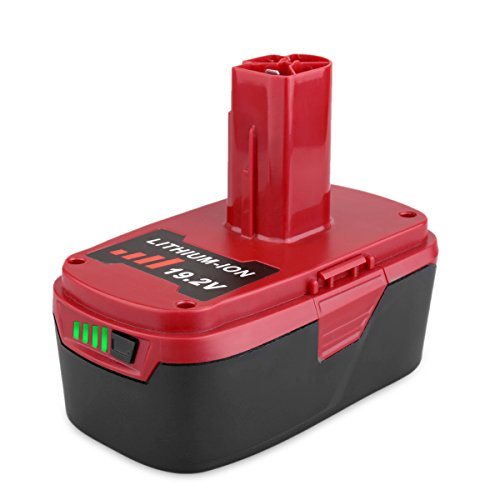 Biswaye 5000mAh 19.2V C3 XCP Lithium Ion Battery Replacement for Craftsman 19.2-Volt C3 Lithium-ion Battery 130211004 11375 11045 130279005 Tools