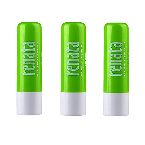 Sunherb Aloe vera Pure natural plant moisturizing lip balm 3 Pack –- Chapstick for Dry Lips, Colorless Lip Moisturizer