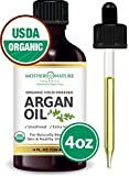 USDA Certified Organic Moroccan Argan Oil, Virgin, Unfiltered, 100% Pure, Cold Pressed (4oz)