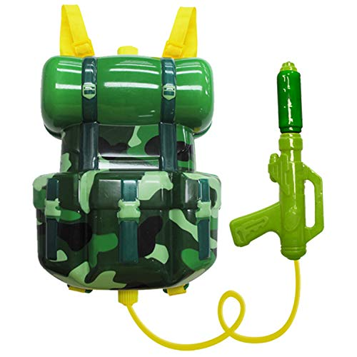 Nai-B Milistar Water Gun Backpack for Kids and Toddlers. Super Soaker Squirt Gun, Water Blaster and Shooter Toy [Forest] for $<!--$18.99-->