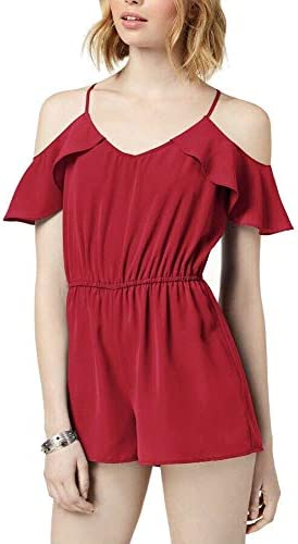 Be Bop Juniors Flutter-Sleeved Cold-Shoulder Romper