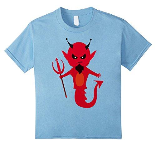 Kids Scary Halloween Satan Tshirt Cute Costume For Halloween 2017 4 Baby Blue