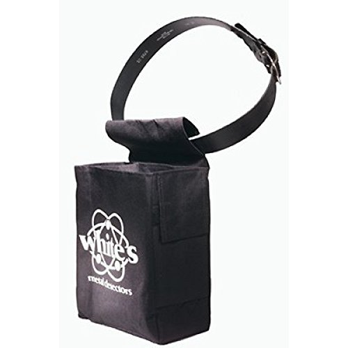 Whites Full Size Black Digging Pouch with White's Logo Seperate Pouches by White's Electronics