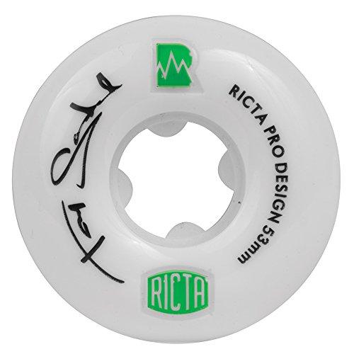 リサイクルする子音追加Ricta Tommy Sandoval NRG Skateboard Wheels, 53mm, White by Ricta