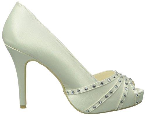 Menbur Wedding Ainara - Zapatos de tacón Mujer Ivory 004