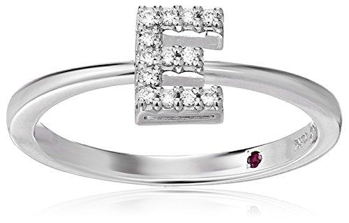 Roberto Coin Women's 001634AWLRXE Diamond Initial Ring, White, Size 7 ()