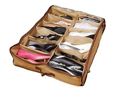 Gtc 12 Pair Under Bed Shoe Organizer Shoes Organizershoe Storage