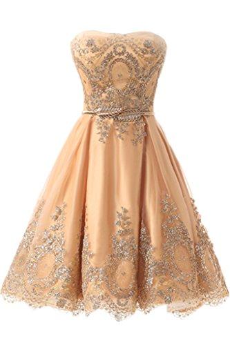 Missdressy Robe Sans bretelle Femme or 34 Prix De Gros Vente Fiable ... d8245d007bb
