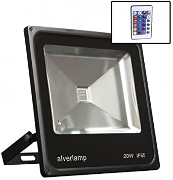 Alverlamp LPRO20RGB - Proyector led rgb+mando 20w: Amazon ...