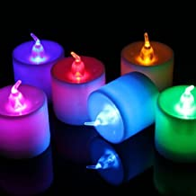 Water & Wood Change Changing Flash LED Flickering Flicker Flameless Tea Light Candle Battery Operated Control Home Decoration Blue