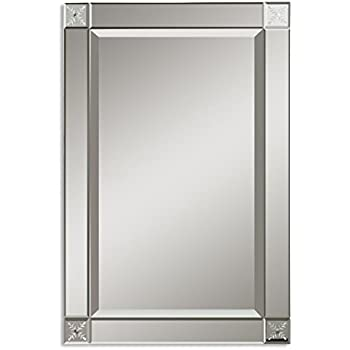 classic glass frame wall mirror etched contemporary vanity home kitchen. Black Bedroom Furniture Sets. Home Design Ideas