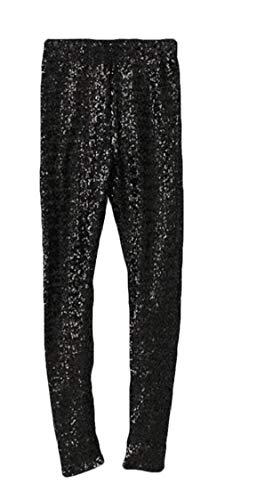 51a67cf8eaa59 Nanquan Women Clubwear Slim Plus Size Glitter Sequins Mid Waisted Leggings  Pants Black US XS -