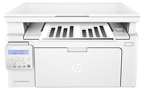 HP LaserJet Pro M130nw Schwarzweiß-Laserdrucker Multifunktionsgerät (Drucker, Scanner, Kopierer, WLAN, LAN, Apple Airprint, HP ePrint, JetIntelligence, USB, 600 x 600 dpi) weiß