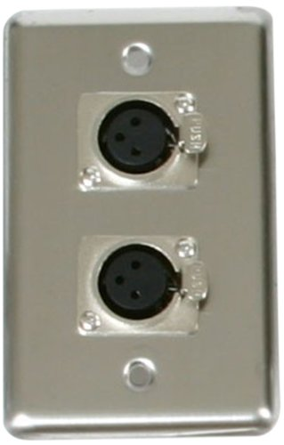Elite Core OSP D-2-XLR Duplex Wall Plates with 2-XLR (Plates Floor Steel)