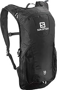 Salomon Unisex Trail 10 Backpack, Black, OS