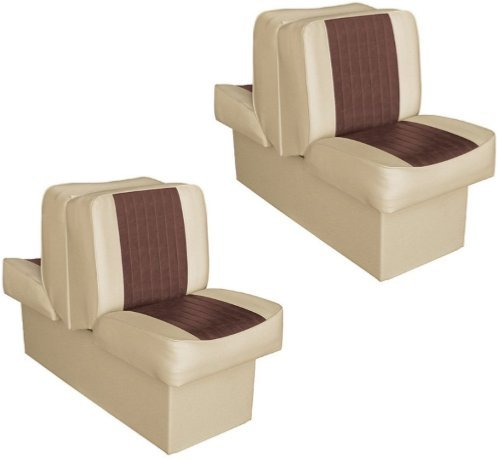 Back to Back Boat Seats - Pair (Sand/Brown - 662)