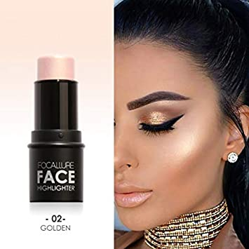 Amazon.com : Waterproof Lasting Women Highlight Contour Stick Beauty Makeup Face Powder Cream Shimmer Concealer : Beauty