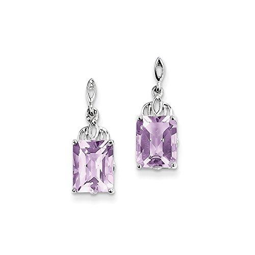 Best Designer Jewelry Sterling Silver Pink Quartz Earrings
