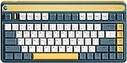 IQUNIX A80 Gaming Keyboard, Wireless Mechanical Keyboard with Cherry MX Blue Switch, Compact 83 Keys RGB LED B