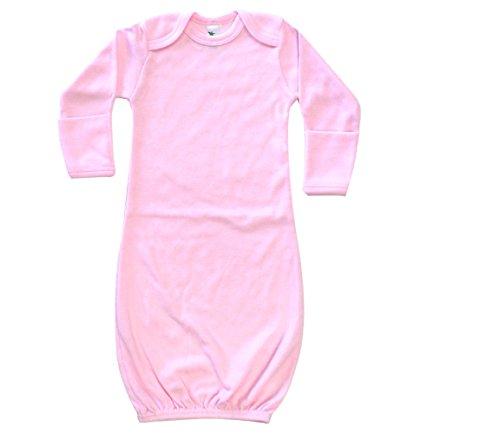 (Laughing Giraffe Baby Long Sleeve Sleeper Gown with Mitten Cuffs (0-6M,)