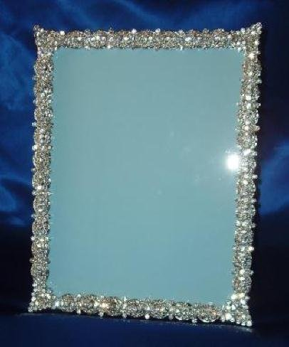 Amazon.com - The Ultimate Crystal Rhinestone Picture Frame Silver 8 ...