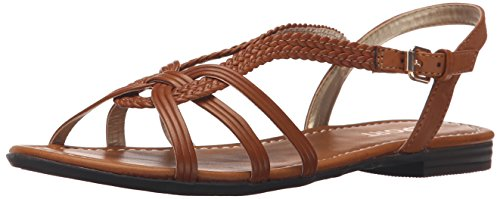 Report Women's Garam Flat Sandal, Tan, 8 M US