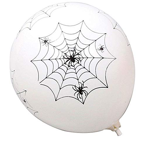 KOBWA Halloween Balloons Decorations - 10 Pcs 12 Inches Pumpkin Bat Specter Spider Web Latex Balloons for Halloween Party Supplies]()