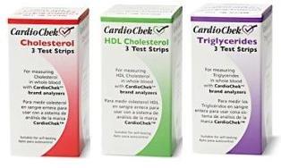 Kit de Recharge cholestérol CardioChek Starter comprend 3 au total, HDL 3, 3 trig, 9 capillaires, et 9 lancettes