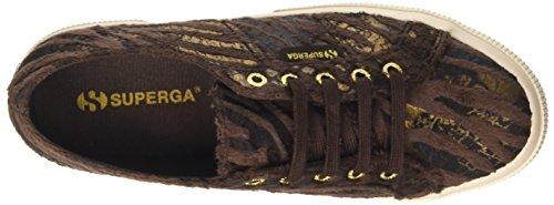 Superga Damen 2750-Fabricsynzebraw Low-Top Multicolore (Brown/Bronze)