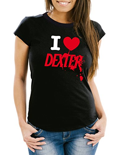 I Love Dexter T-Shirt Girls Black Certified Freak