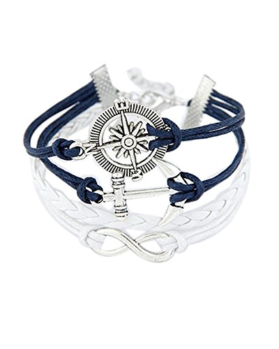 Young & Forever Women's Navratri Diwali Special Know Your Direction Inspirational Bracelet White by Young & Forever
