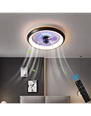 LED-Plafondventilator Met Lamp Moderne Onzichtbare Ventilator Plafondlamp Ultra-Rustige Plafondventilator Met Verlichting Eetkamer Slaapkamer Woonkamer Led Dimbare Plafondlamp Met Afstandsbediening