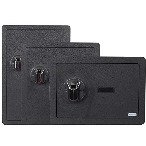 Fingerprint Security Safe Box Fireproof Waterproof Lock Box Cabinets Gun Pistol Cash Strongbox Solid Steel Safety Jewelry Storage Money Boxes w/Deadbolt Lock&2 Emergency Keys&4 Battery Wall-Anchoring by Reliancer (Image #2)