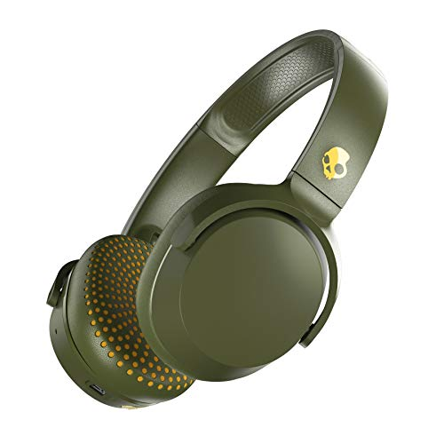 LD Skullcandy Riff Wireless On Ear Headphone with Mic Moss Olive Yellow